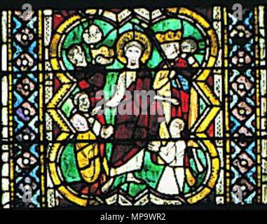 843 Maestro di San Francesco, ss bartolomeo e matteo, Il popolo adora Matteo portando corone d'oro - Stock Photo