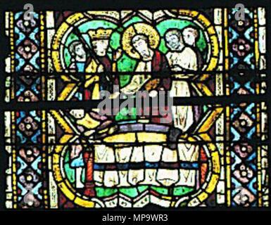 843 Maestro di San Francesco, ss bartolomeo e matteo, S. Matteo resuscita il figlio del re dell'Egitto - Stock Photo