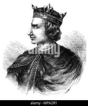 Henry I (1068-1135), was King of England from 1100 to his death. He was the fourth son of William the Conqueror and on William's death in 1087, Henry's elder brothers Robert Curthose and William Rufus inherited Normandy and England, respectively, but Henry was left landless. Henry gradually rebuilt his power base in the Cotentin and allied himself with William against Robert. Henry was present when William died in a hunting accident in 1100, and he seized the English throne, promising at his coronation to correct many of William's less popular policies. - Stock Photo