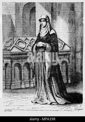 Matilda of Scotland (1080–1118), originally christened Edith, was the daughter of the Scottish king Malcolm III and Queen of England as the first wife of King Henry I after they married in late 1100. She led a literary and musical court, but was also pious and embarked on building projects for the church. Matilda acted as regent of England in the absence of her spouse on several occasions and took a role in government when her husband was away. Many surviving charters were signed by her. - Stock Photo