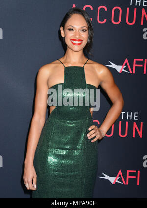 Cynthia Addai-Robinson 037 at The Accountant Premiere at the TCL Chinese Theatre in Los Angeles. October 10, 2016.Cynthia Addai-Robinson 037 ------------- Red Carpet Event, Vertical, USA, Film Industry, Celebrities,  Photography, Bestof, Arts Culture and Entertainment, Topix Celebrities fashion /  Vertical, Best of, Event in Hollywood Life - California,  Red Carpet and backstage, USA, Film Industry, Celebrities,  movie celebrities, TV celebrities, Music celebrities, Photography, Bestof, Arts Culture and Entertainment,  Topix, Three Quarters, vertical, one person,, from the year , 2016, inquiry - Stock Photo