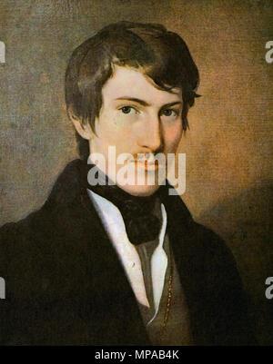 Amerling Friedrich Von - the Austrian Poet Nikolaus Lenau - Stock Photo