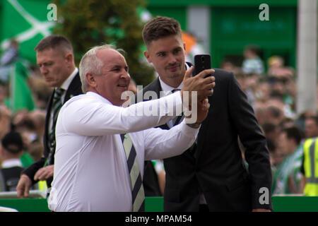 Celtic footballer, Mikael Lustig at Celtic Park, Glasgow, Scotland, on Saturday, 19th May, 2018 - Stock Photo