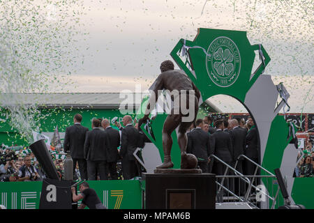 Celtic team at Celtic Park, Glasgow, Scotland, on Saturday, 19th May, 2018 - Stock Photo