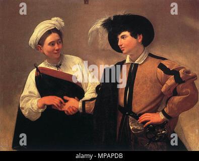 The Fortune Teller   circa 1596.   889 Michelangelo Merisi da Caravaggio - The Fortune Teller - WGA04082 - Stock Photo