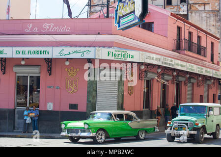 Famous La Floridita restaurant and bar in Old Havana Cuba - Stock Photo