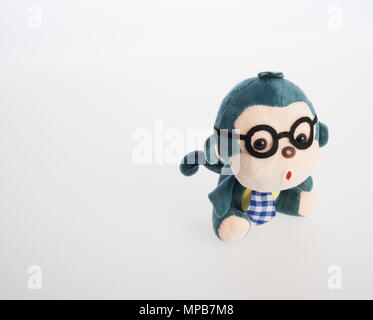 toy or monkey soft toy on the background - Stock Photo