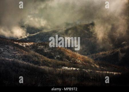 rainy day in mountain della Laga. Abruzzo - Stock Photo