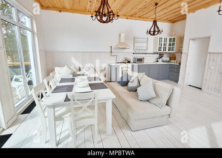 Minimalistic Dining Room Interior - Stock Photo