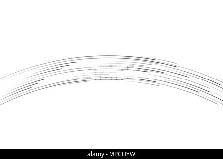 Isolated speed lines. The effect of movement to your design. Black lines on a transparent background.The flying particles.vector illustration.The movement forward - Stock Photo