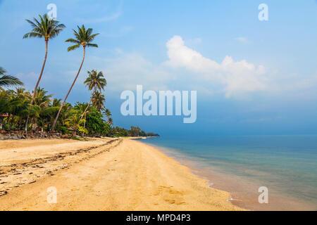 The morning on Bang Po Beach.  Koh Samui in Thailand - Stock Photo