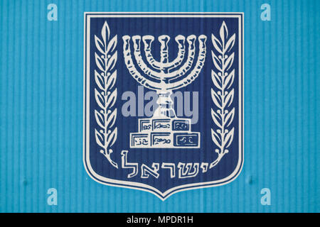 Menorah On Front Of Knesset In Jerusalem Stock Photo 13257994 Alamy