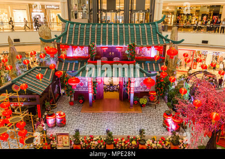 chinese new year decoration of shopping mall in Malaysia ...