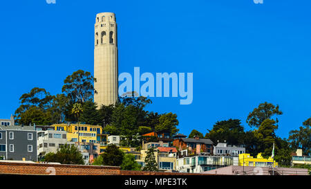Coit Tower - San Francisco, CA - Stock Photo