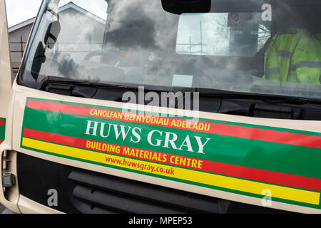 The front of a Huws Gray lorry - Stock Photo