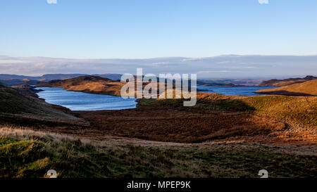 A photograph of the Teifi pools on the Cambrian mountains in Wales - Stock Photo