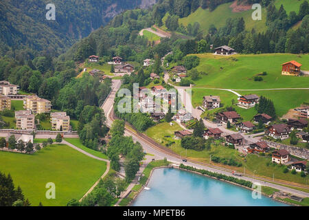 Lake Eugenisee, Engelberg in the canton of Obwalden, Switzerland - Stock Photo