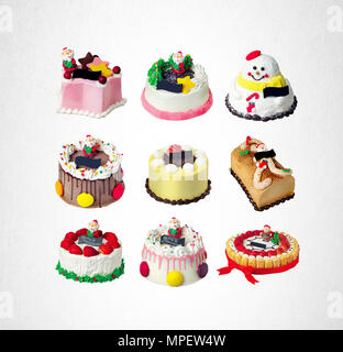 cake or christmas cakes collection on a background - Stock Photo