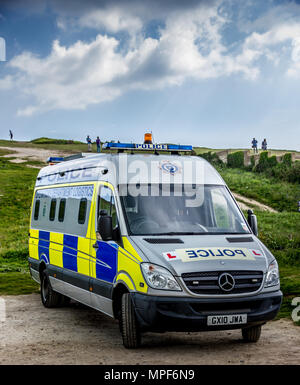 Police Logistics vehicle with L plates - Stock Photo