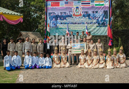 NAKHON RATCHASIMA PROVINCE, Thailand (Feb. 23, 2017) -- The Ban Non Lueam school expansion project is the result of the joint efforts of Multi-National Forces from the U.S., Thailand, India and China, part of Cobra Gold 2017. Cobra Gold, in its 36th iteration, is the largest Theater Security Cooperation exercise in the Indo-Asia-Pacific. This year's focus is to advance regional security and ensure effective responses to regional crises by bringing together a robust multinational force to address shared goals and security commitments in the Indo-Asia-Pacific region. (U.S. Navy photo by Mass Com - Stock Photo