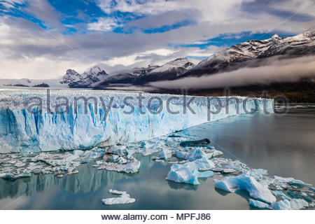 The Perito Moreno Glacier is a glacier located in the Los Glaciares National Park in Santa Cruz Province, Argentina. Its one of the most important tou - Stock Photo