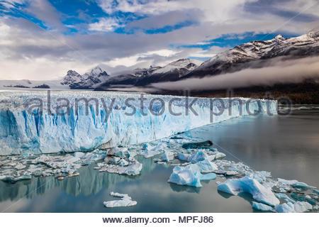 The Perito Moreno Glacier is a glacier located in the Los Glaciares National Park in Santa Cruz Province, Argentina. Its one of the most important tou - Stock Photo