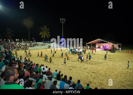 170311-N-SF984-259   HAMBANTOTA, Sri Lanka (March 11, 2017) U.S 7th Fleet Band, Far East Edition, performs at Hambantota Beach Park as part of Pacific Partnership 2017. Pacific Partnership is the largest annual multilateral humanitarian assistance and disaster relief preparedness mission conducted in the Indo-Asia-Pacific and aims to enhance regional coordination in areas such as medical readiness and preparedness for manmade and natural disasters. (U.S. Navy photo by Mass Communication Specialist 2nd Class Chelsea Troy Milburn/Released) - Stock Photo