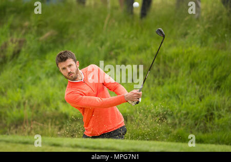 Wentworth, UK. 23th May 2018. Wentworth Golf Club, UK. 23rd May 2018. Michael Carrick during the Pro Am ahead of the BMW PGA Championship at Wentworth Golf Club on May 23, 2018 in Surrey, England Credit: Paul Terry Photo/Alamy Live News - Stock Photo