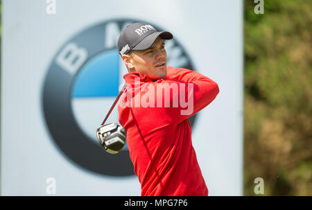 Wentworth, UK. 23th May 2018. Wentworth Golf Club, UK. 23rd May 2018. Martin Kaymer during the Pro Am ahead of the BMW PGA Championship at Wentworth Golf Club on May 23, 2018 in Surrey, England Credit: Paul Terry Photo/Alamy Live News - Stock Photo