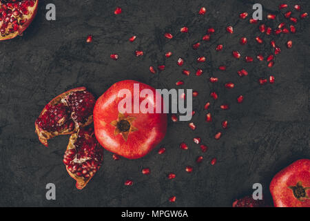 pomegranate and seeds - Stock Photo