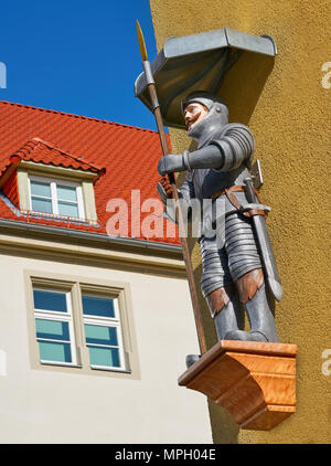Riese and riesenhaus Giant house figure in Nordhausen Harz of Germany - Stock Photo
