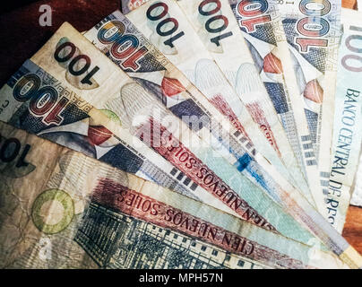 Peruvian soles peru sol currency notes and coins stock photo soles nuevos is the national currency of peru stock photo thecheapjerseys Images