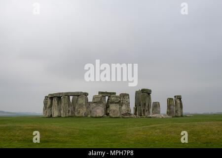 Stonehenge, prähistorischer Steinkreis - Stock Photo