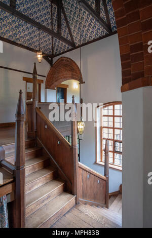 Bexleyheath bei London, Red House, Wohnhaus von William Morris. Erbaut 1859 von Philipp Webb, Inneneinrichtung von William Morris im Stil der Arts and - Stock Photo