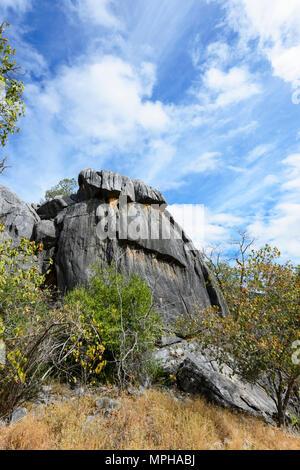 Spectacular limestone outcrop in Chillagoe-Mungana Caves National Park, Far North Queensland, FNQ, QLD, Australia - Stock Photo