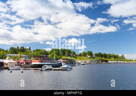 Landscape of Lappeenranta harbour in summer day, Finland - Stock Photo