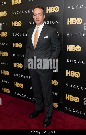 New York, United States. 22nd May, 2018. Matthew Macfadyen attends HBO drama Succession premiere at Time Warner Center Credit: Lev Radin/Pacific Press/Alamy Live News - Stock Photo