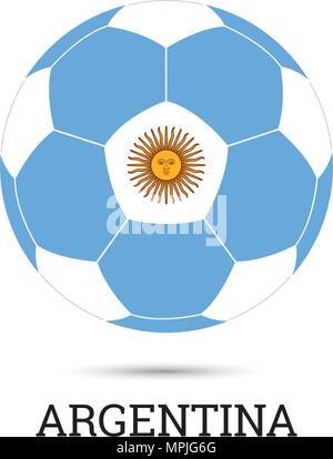 Argentina Flag Emblem Soccer Stock Vector Art Illustration Vector