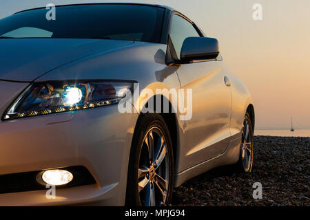 Honda CR-Z GT VTEC Nav Hybrid two door car. Picture date: Saturday May 19, 2018. Photograph by Christopher Ison © - Stock Photo