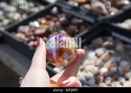 Glass Crystal Marble Ball - Stock Photo