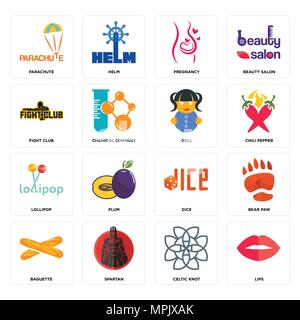 Set of editable vector celtic knot designs Stock Vector Art