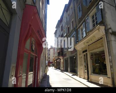 Side Street in Limoges, France. - Stock Photo