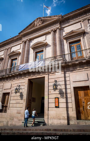 Museum Casa del Conde Rul House of Count Rul, city in Central Mexico - Stock Photo