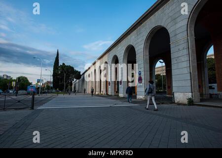 Nuevos Ministerios buildings in Madrid - Stock Photo