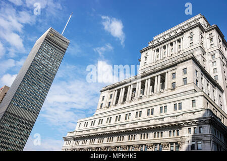 Montreal Canada Place Ville Marie CIBC building Sun Life Financial headquarters bank insurance - Stock Photo
