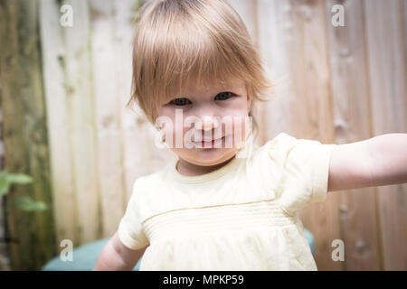 18 month old girl toddler - Stock Photo