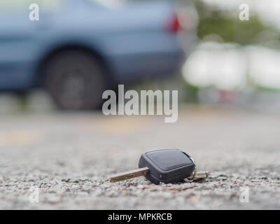the remote control car alarm systems on the road - Stock Photo