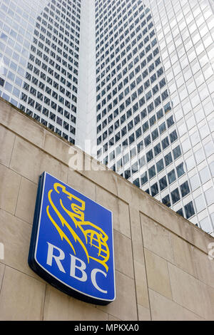 Montreal Canada Place Ville Marie RBC Royal Bank of Canada logo sign office building - Stock Photo