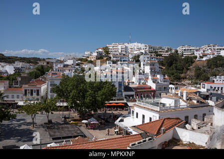 View over Albufeira Old Town, Algarve, Portugal - Stock Photo