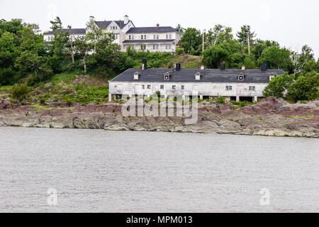 Canada St. Lawrence River Grosse Ile Irish Memorial National Historical Site immigration quarantine island 1832 1937 - Stock Photo